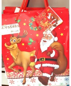 Bolsa de regalo navideña